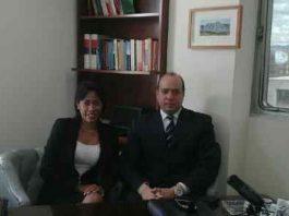 Abogados José Amalio Graterol y Thelma Fernández (Foto VAF)