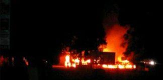*El personal militar adscrito al punto de control siniestrado, fue evacuado por un helicóptero militar ante la arremetida de los residentes.