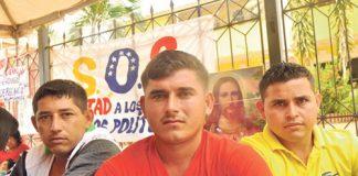 Jairo Molina, Argenis Contreras y Deivys Molina se incorporaron a la huelga. (Foto Cortesía)