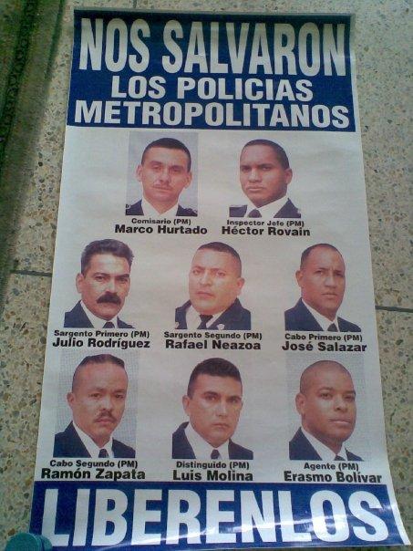 11 presos políticos de la policía metropolitana de Venezuela