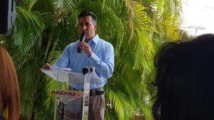 Carlos Salazar, hermano de la presa politica, Capitan Laidet Salazar (Foto VAF)