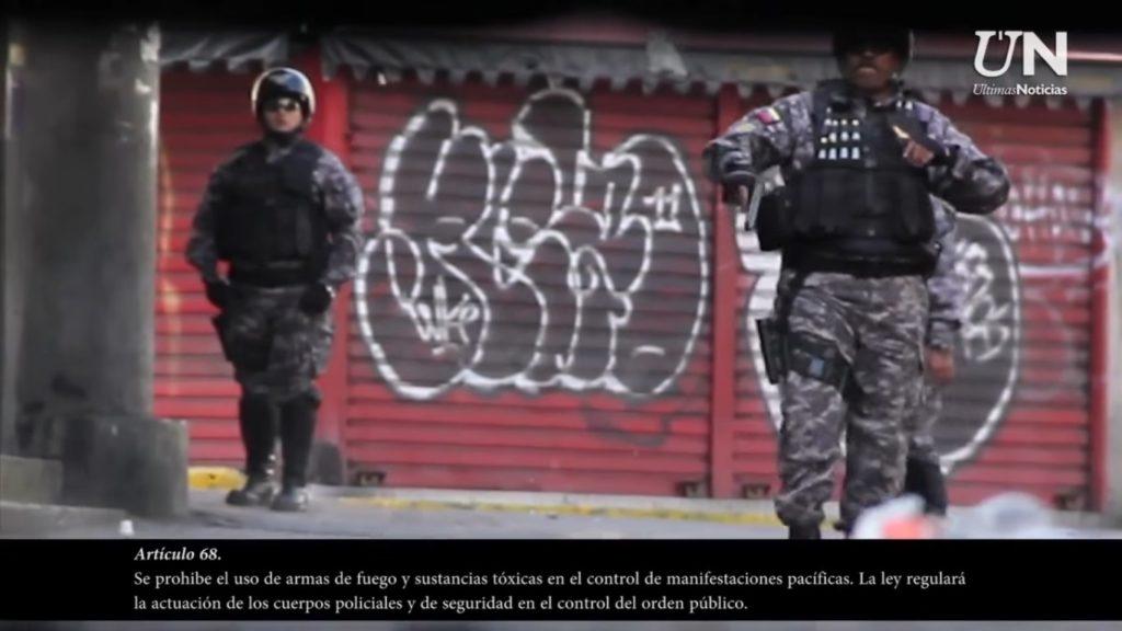 Funcionarios del Sebin armados en el centro de Caracas | Foto: Últimas Noticias